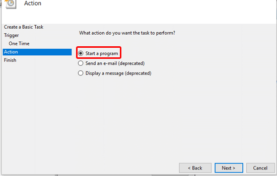 task host window message at shutdown