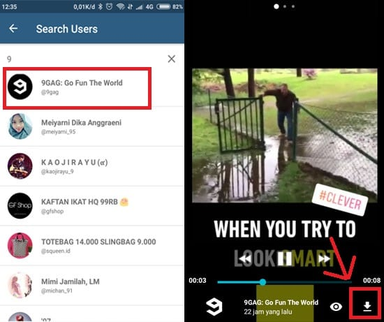 Cara Download Video Instagram Story