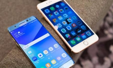 Samsung and iPhone 450x270 - Tech News, Samsung, iPhone 8, iPhone, IOS, Galaxy Note 8, Android - Galaxy Note 8 dan iPhone 8 Meningkatkan Pasar Smartphone