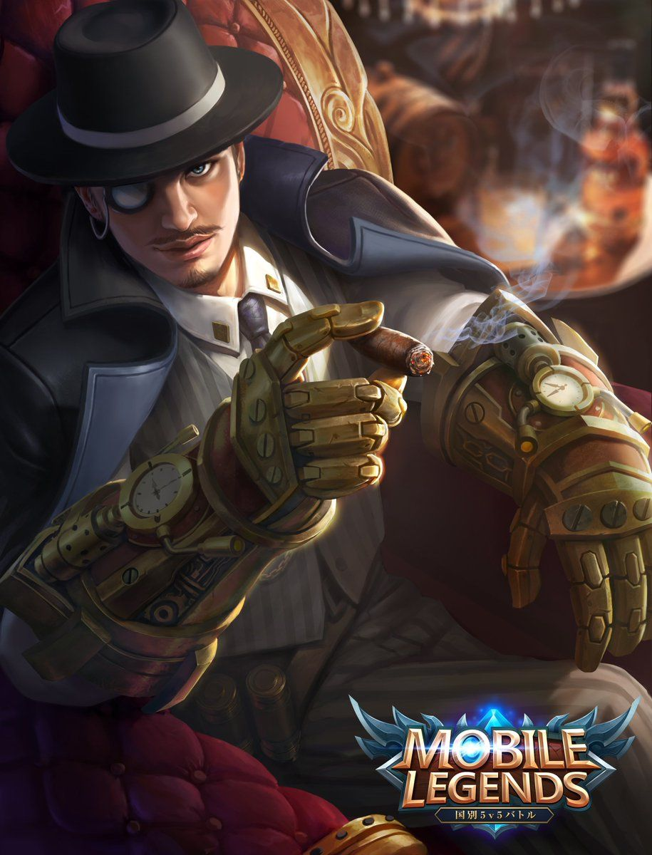 Roger Dark Gent - Wallpaper Mobile Legends