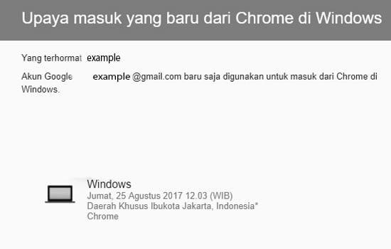 Upaya Masuk Chrome di Windows