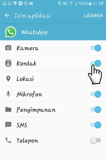 Permission Kontak WhatsApp