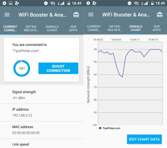 Aplikasi WiFi Booster & Analyzer