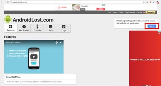 Buka Website AndroidLost.com