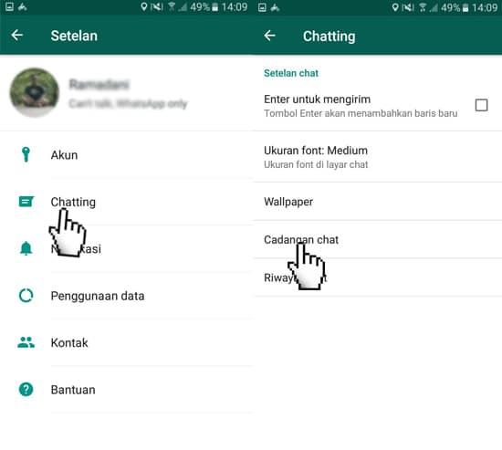 Fitur Cadangan Chat WhatsApp