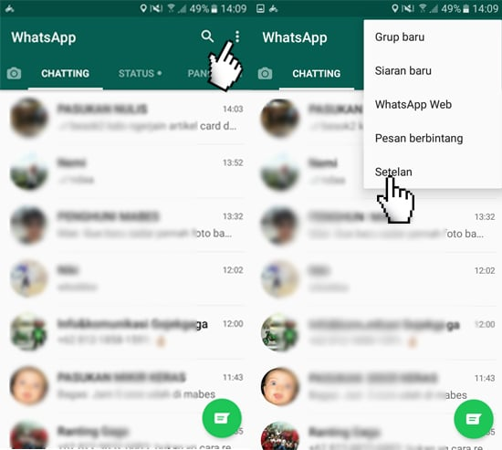 Pengaturan WhatsApp