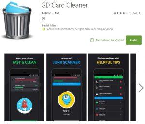 Aplikasi SD Card Cleaner di Play Store