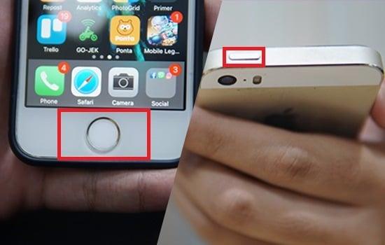 Cara Pertama Screenshot di Smartphone iPhone