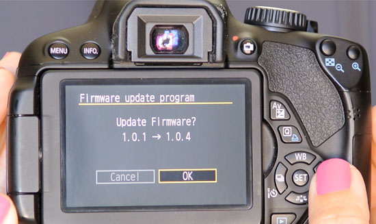 Upgrade Firmware Kamera