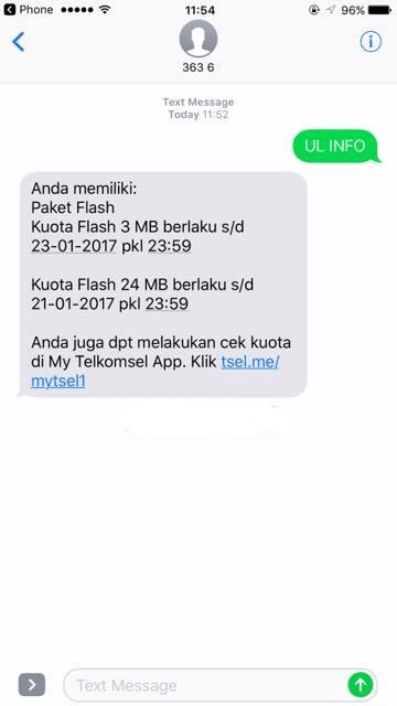 Cek Kuota Internet Melalui SMS