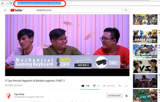 Copy URL Video