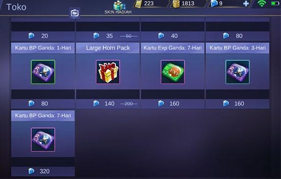 Menggunakan Double Battle Point Card