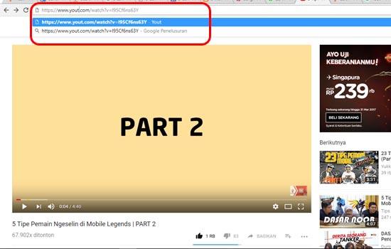 Hapus Tulisan Youtube Menjadi Yout