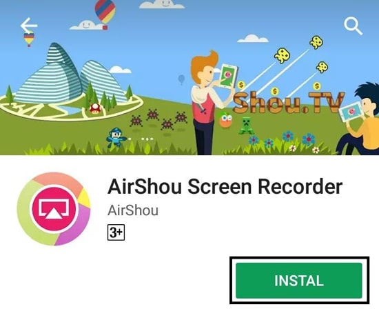 Install AirShou Screen Recorder