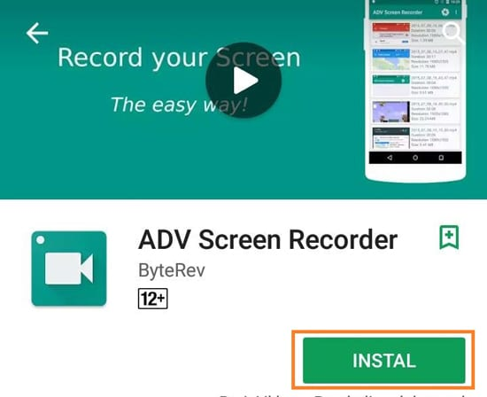 Install Aplikasi ADV Screen Recorder