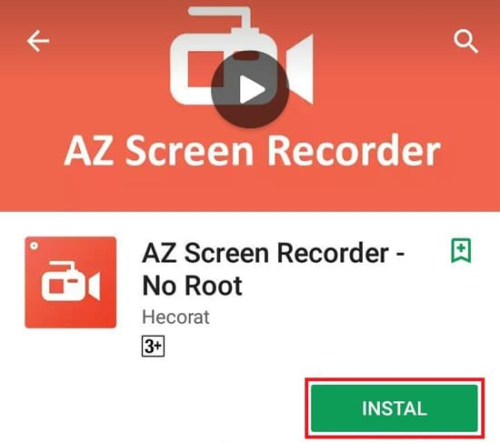 Install Aplikasi AZ Screen Recorder