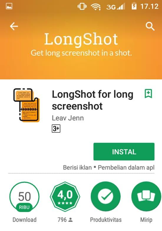 Download dan Install Aplikasi LongShot