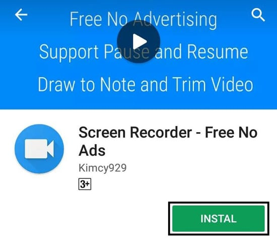Install Screen Recorder - Free No Ads