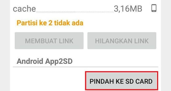Pindah ke SD Card