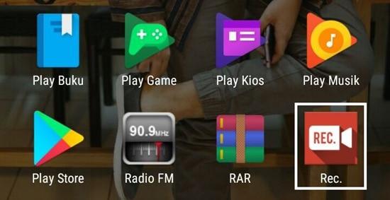 Pilih lalu Buka Aplikasi Rec. (Screen Recorder)