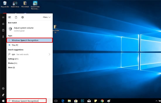 Buka Aplikasi Windows Speech Recognition