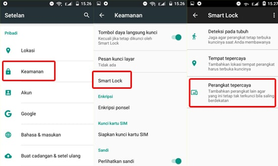 Aktifkan Smart Lock