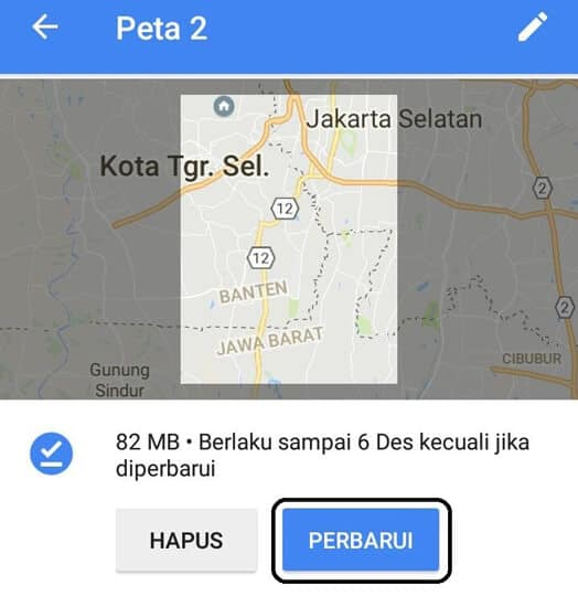 Hasil Download Google Maps
