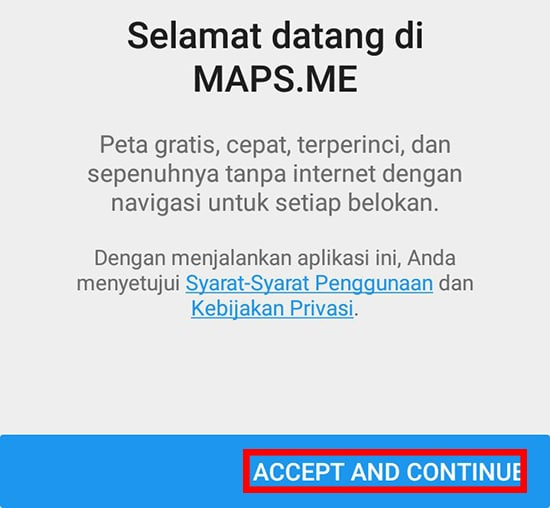 Pilih Accept and Continue