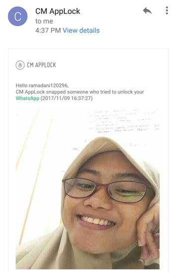 CM akan Mengirim Email yang berisi Foto