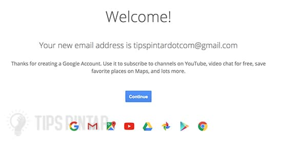 Berhasil Terdaftar di Google