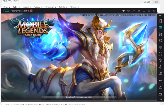 Buka Game Mobile Legends