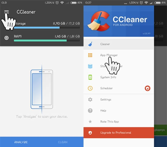 App Manager CCleaner