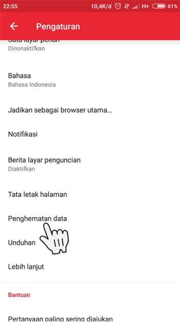 Penghematan Data Opera Mini