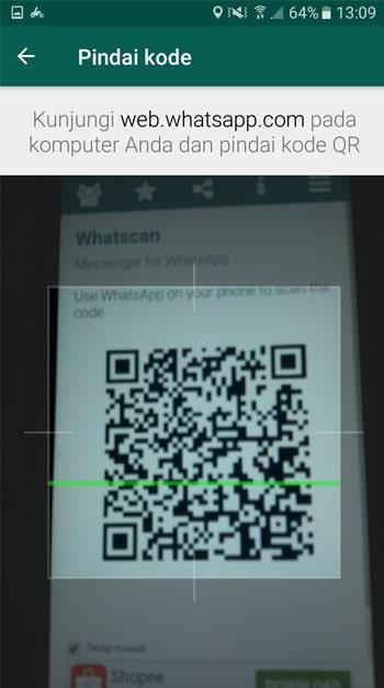 Scanning Barcode WhatsApp