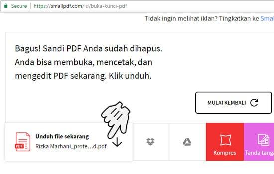Unduh File PDF yang Sudah Tidak Terkunci