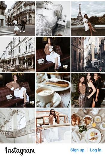 Akun Instagram dengan Tone yang Senada