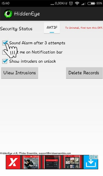 Sound Alarm After 3 Attempts