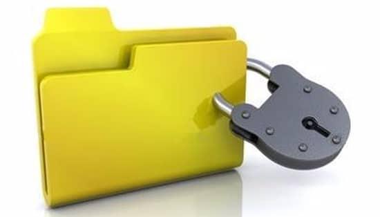 Folder komputer yang terkunci