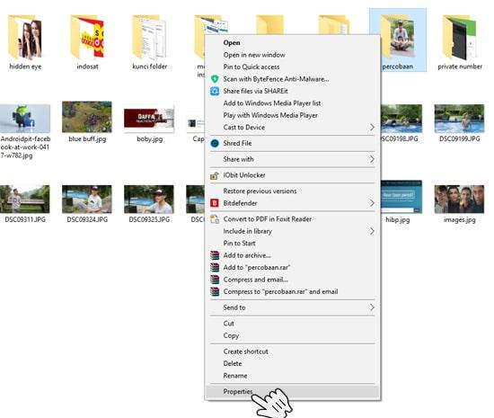 Properties pada Folder