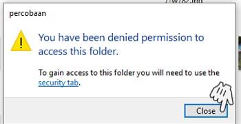 Not Access Folder