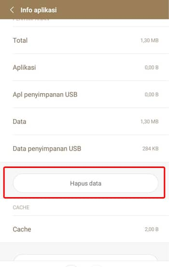 Pilih Hapus Data