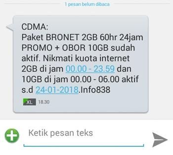 SMS Kuota Gratis AXIS