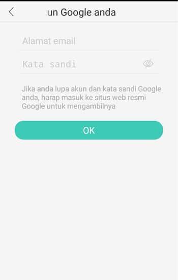 Login Akun Google yang ada di Smartphone
