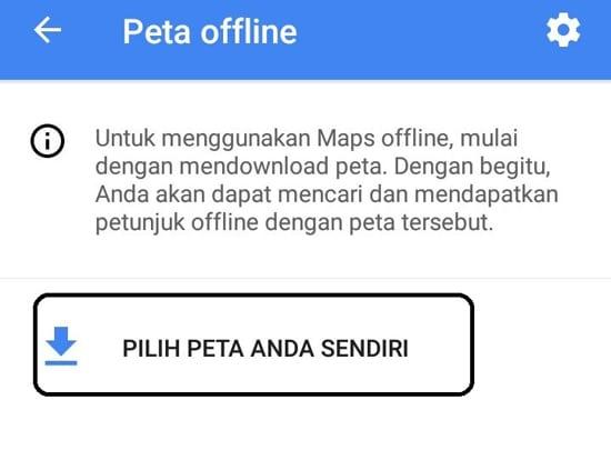 Pilih Peta Anda Sendiri