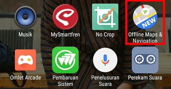 Pilih Lalu Buka Aplikasi Offline Maps & Navigation
