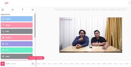 Membuat Video YouTube Menjadi GIF