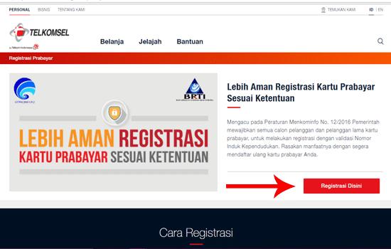Registrasi Kartu Prabayar Melalui Website