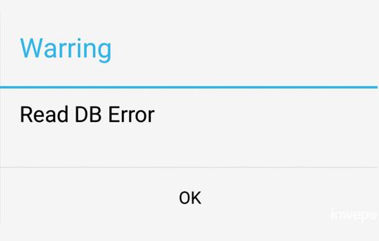 Read DB Error