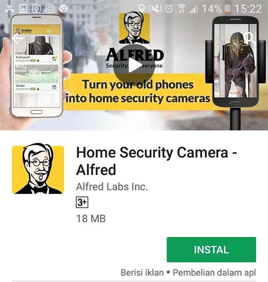 Install Aplikasi Alfred di Smartphone Lain