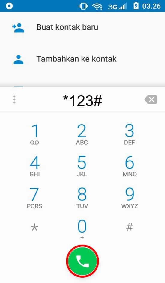 Ketik *123#